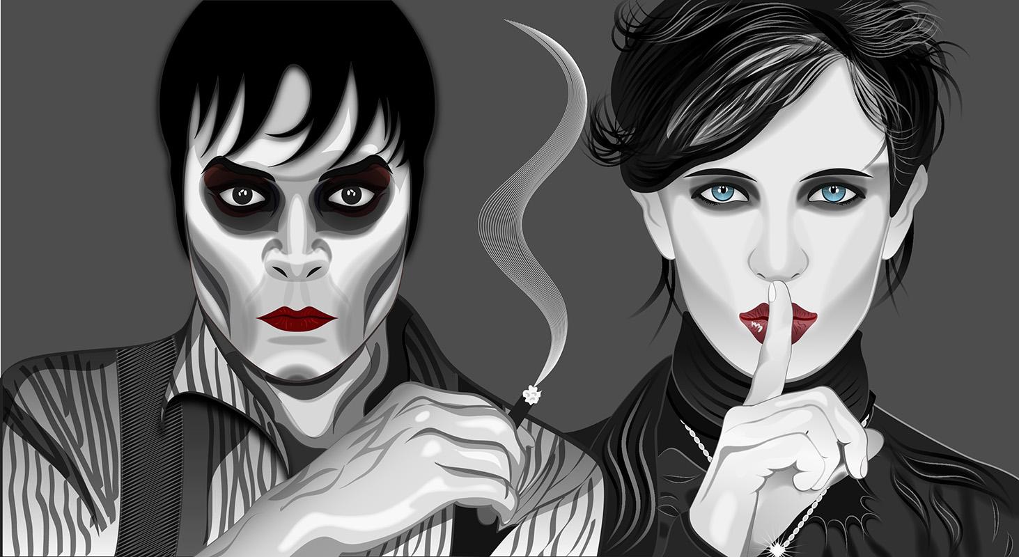 Johnny Depp and Eva Green in Dark Shadows by Pepe09 on DeviantArt