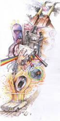 The Epic Pink Floyd Tattoo by crazieburd