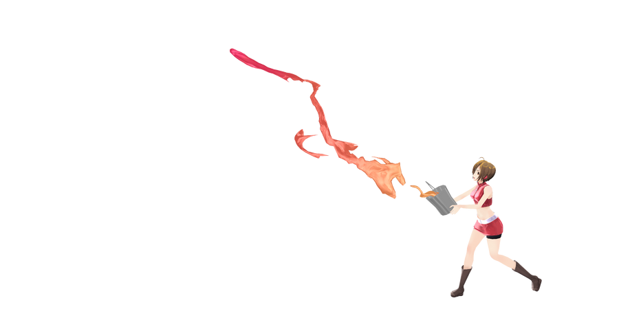 running with paint by Tehrainbowllama