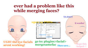 Face merging help tutorial