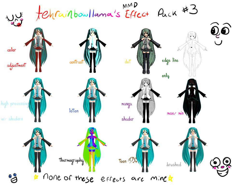 tehrainbowllama's mmd effect pack #3 by Tehrainbowllama