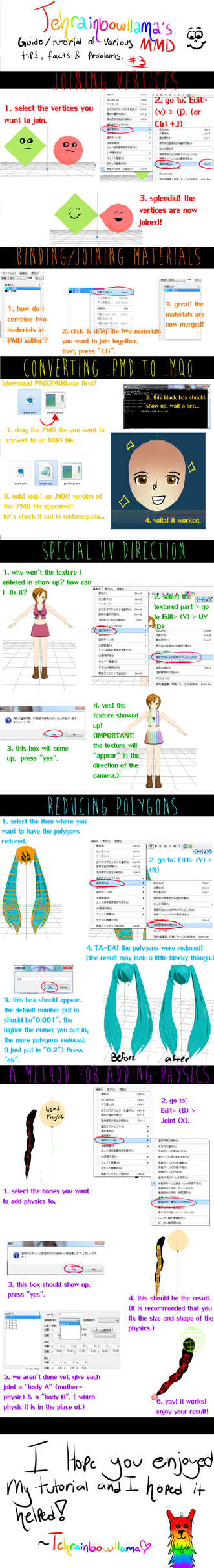 MMD guide to tips, facts and  problems #3 by Tehrainbowllama