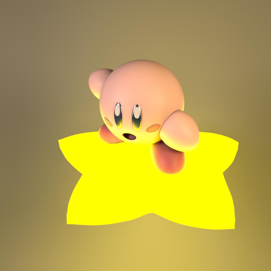 Kirby 2K on star by GexANIMATOR