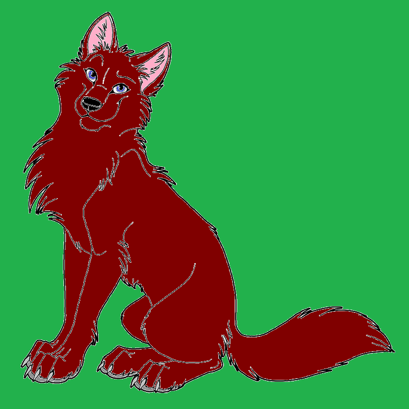 red anime wolf by animallover1st on deviantart