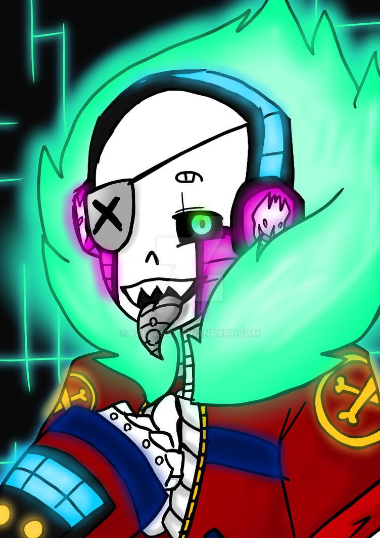 Cyborg!Sans 2 by 6ALLAN6
