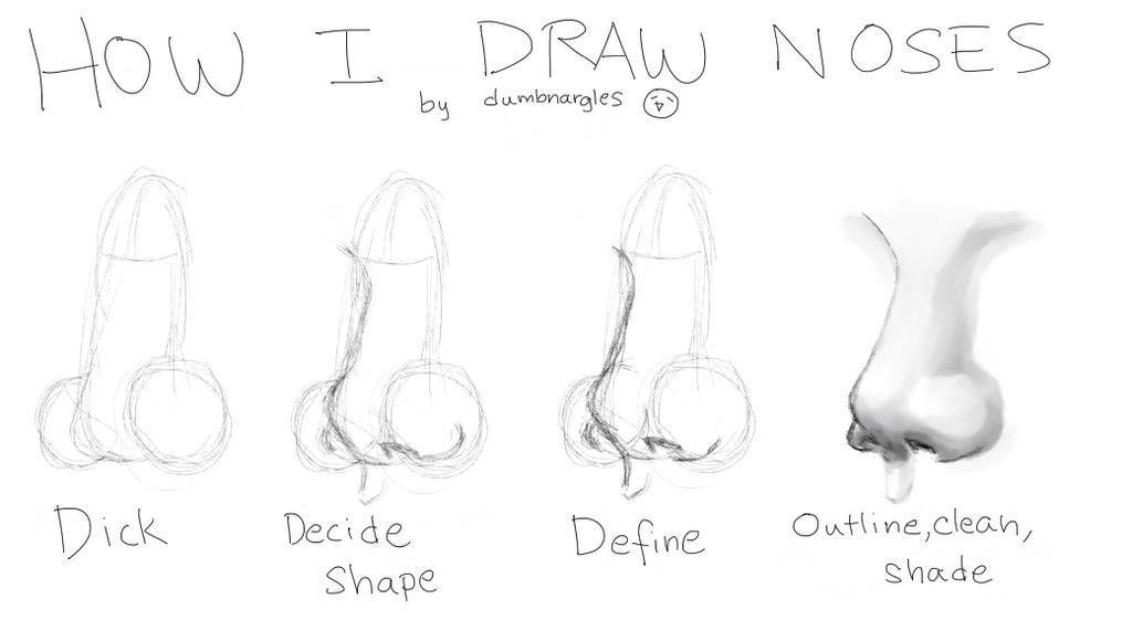 How I draw noses by dumbnargles on DeviantArt