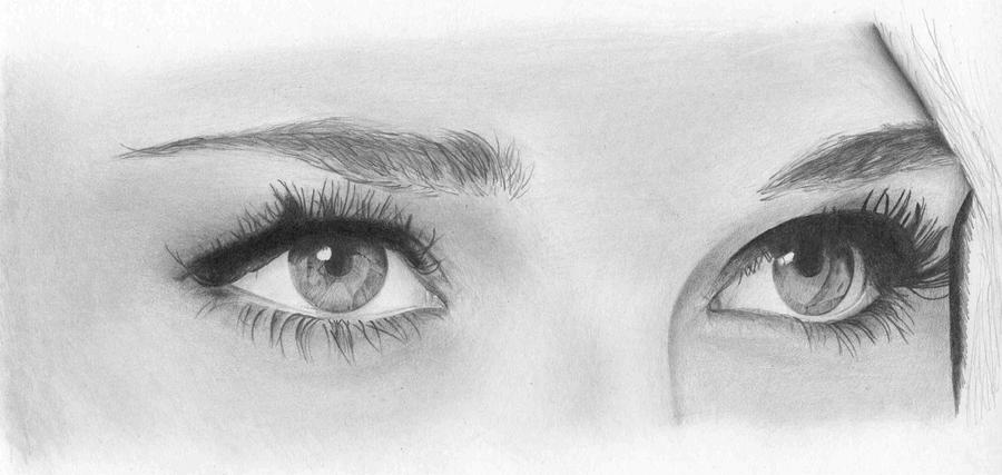 Beautiful eyes pencil drawing by al54xx on deviantart for Beautiful images to draw