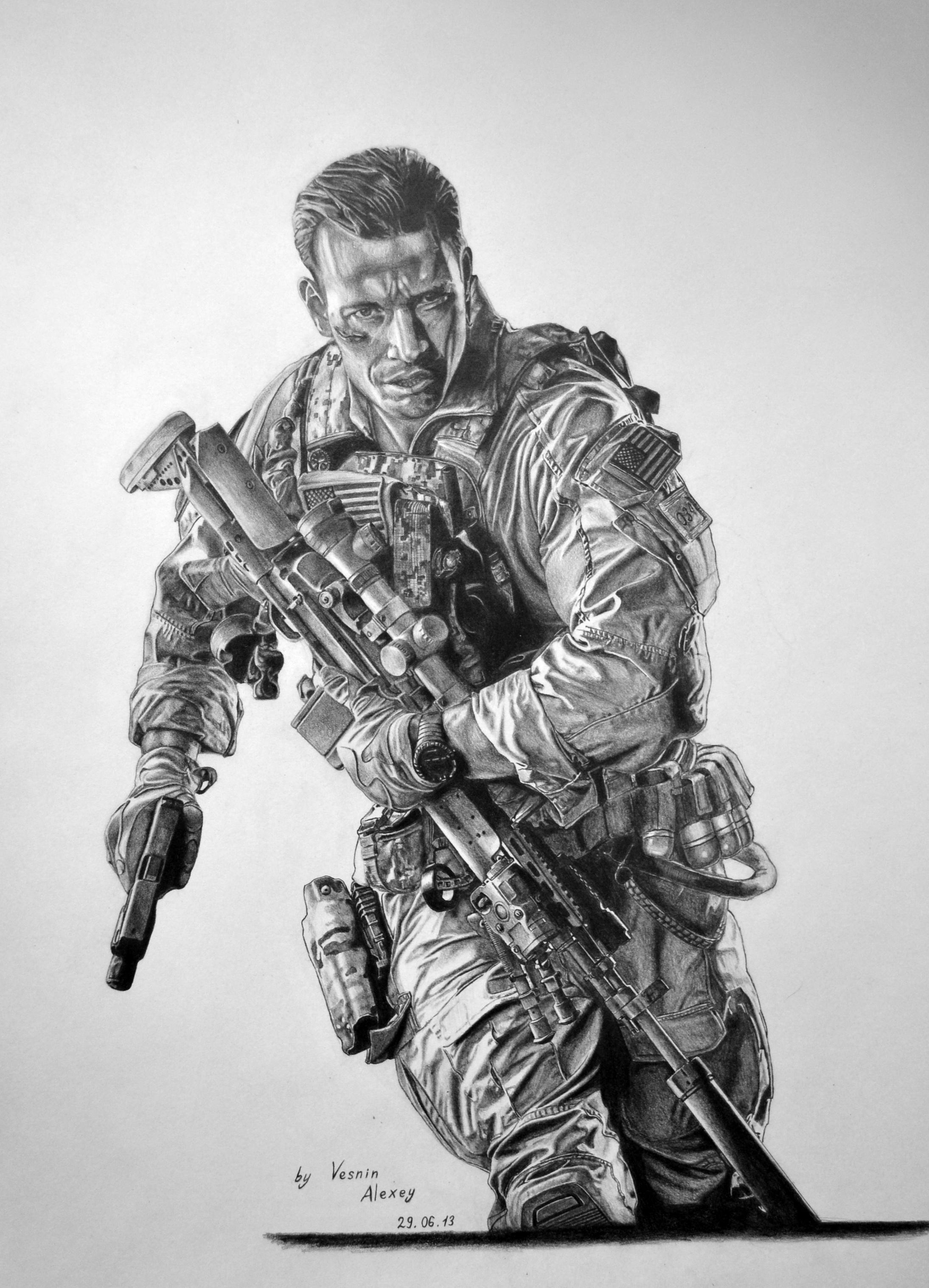 Battlefield 4 Pencil Drawing By Al54xx On Deviantart