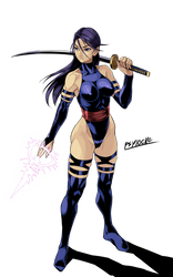 Psylocke (not translation) by iggler