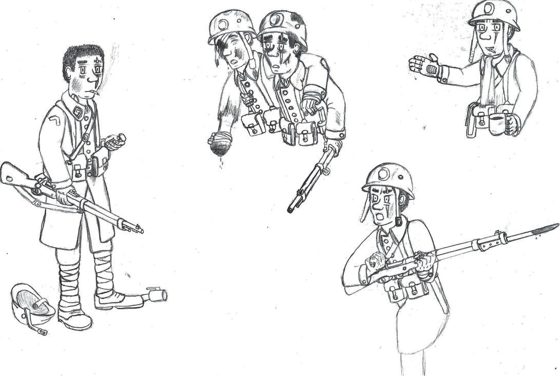 OC : Colin Lemoine sketches by Troll-killers