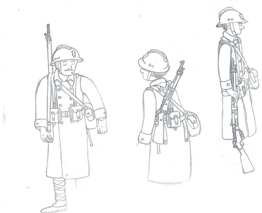 WIP : 1939-1940 French soldiers by Troll-killers