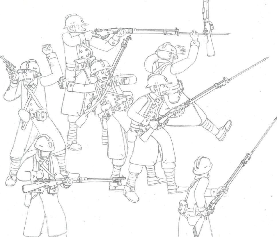 WIP : 1939-1940 Fighting French Soldiers by Troll-killers