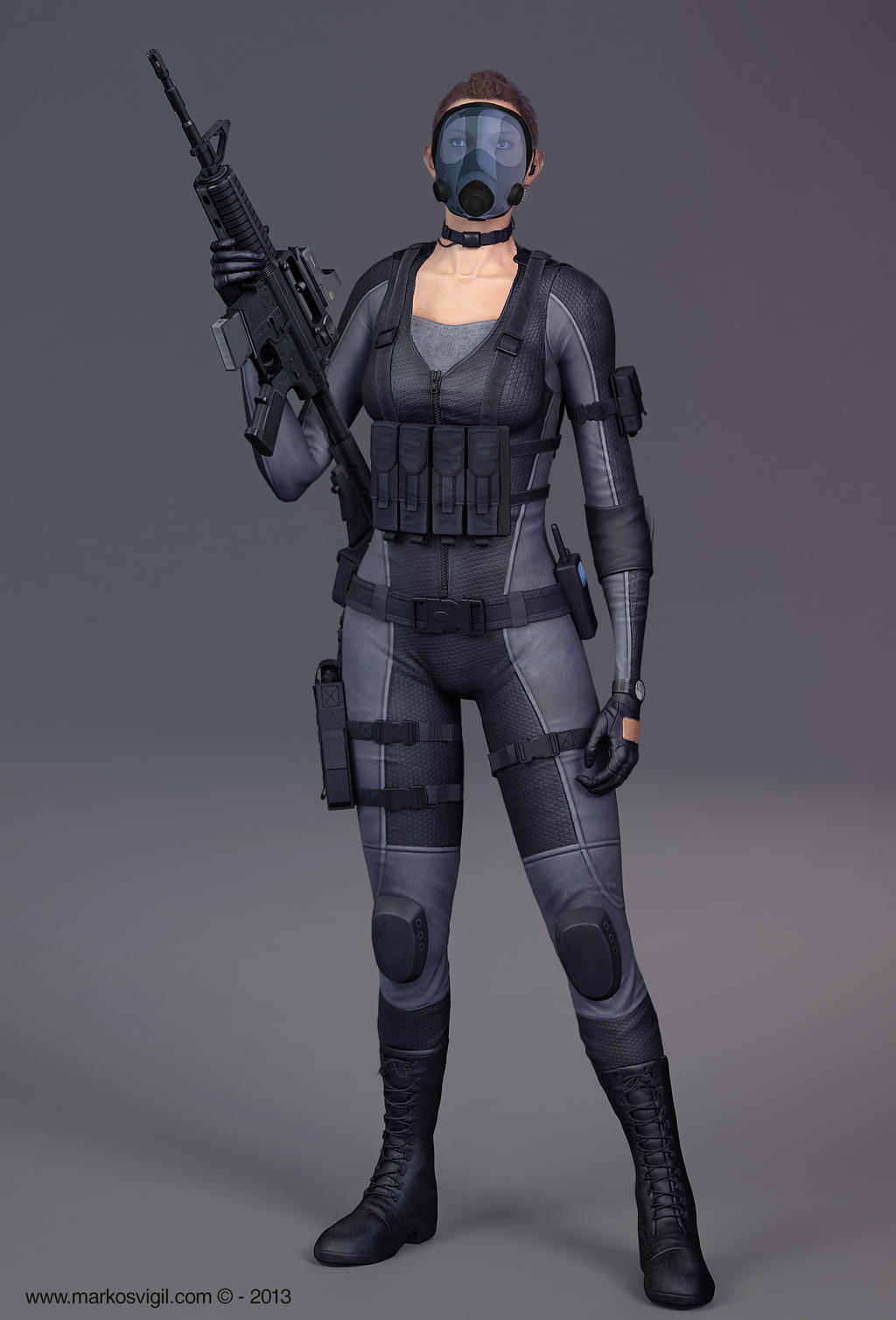 Soldier Girl - Resident Evil by MarkosVigil