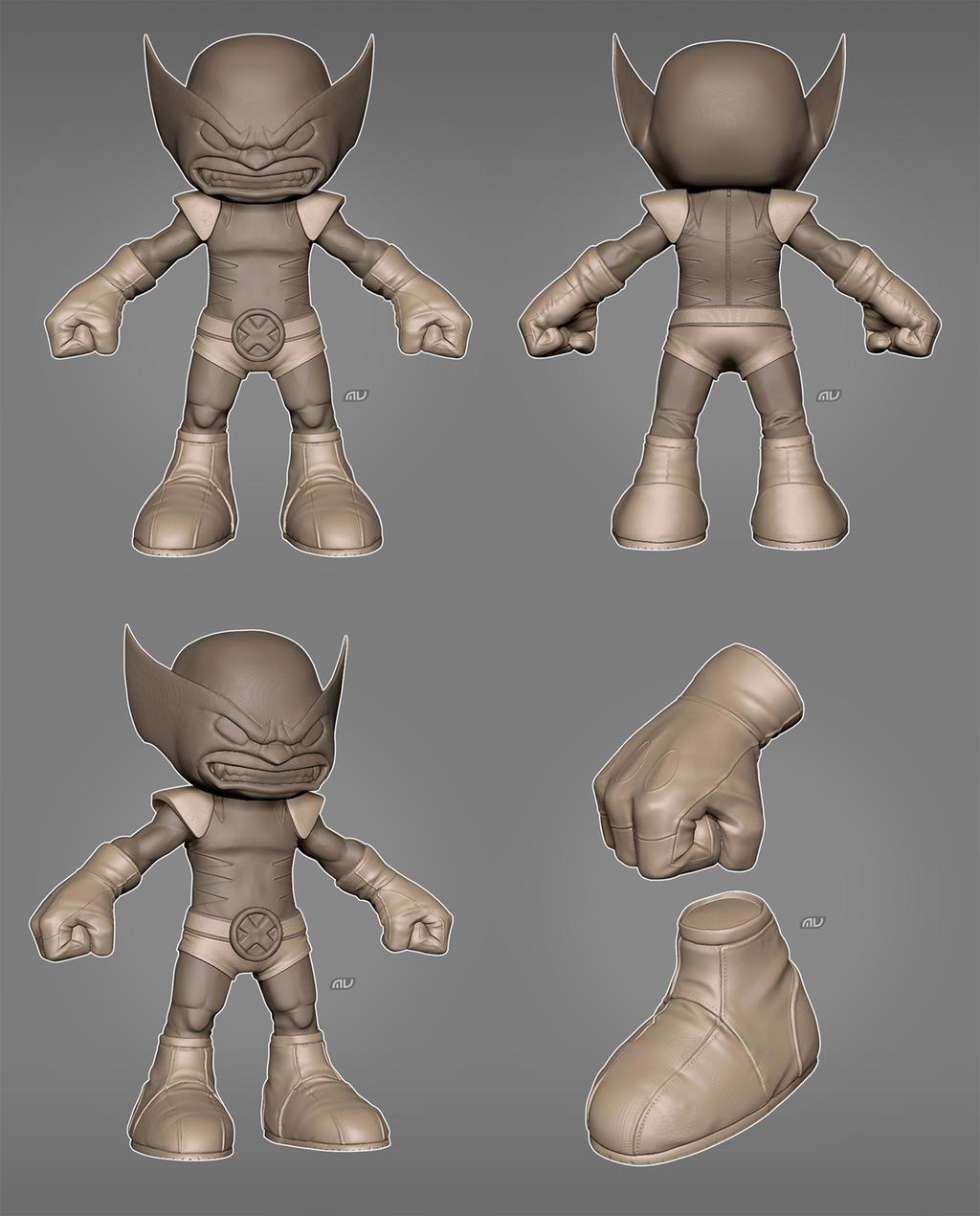 Wolverine Big Head Figure - 3DTotal Forums