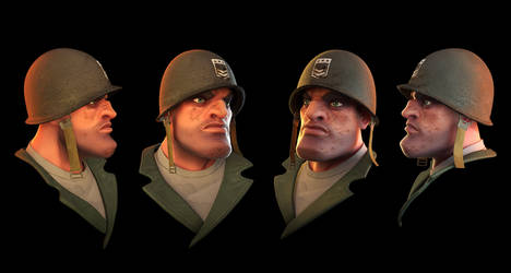Stylized Soldier Head