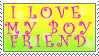 Love My Boyfriend Stamp by AGoddessFinch