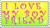 Love My Boyfriend Stamp by AGoddessFinch