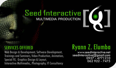 Seed Interactive Call Card by spiderye