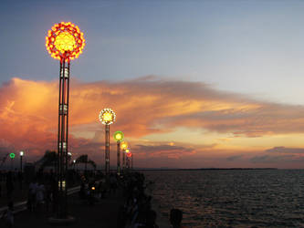 Paseo del Mar Sunset by spiderye
