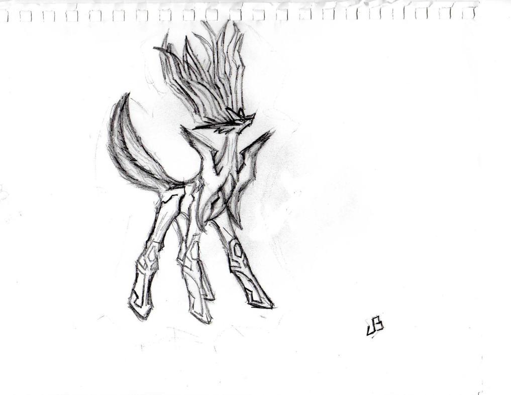 comment dessiner xerneas