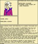 Human Aria Bio Sheet