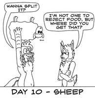 Atlus Artober Day 10 - Sheep