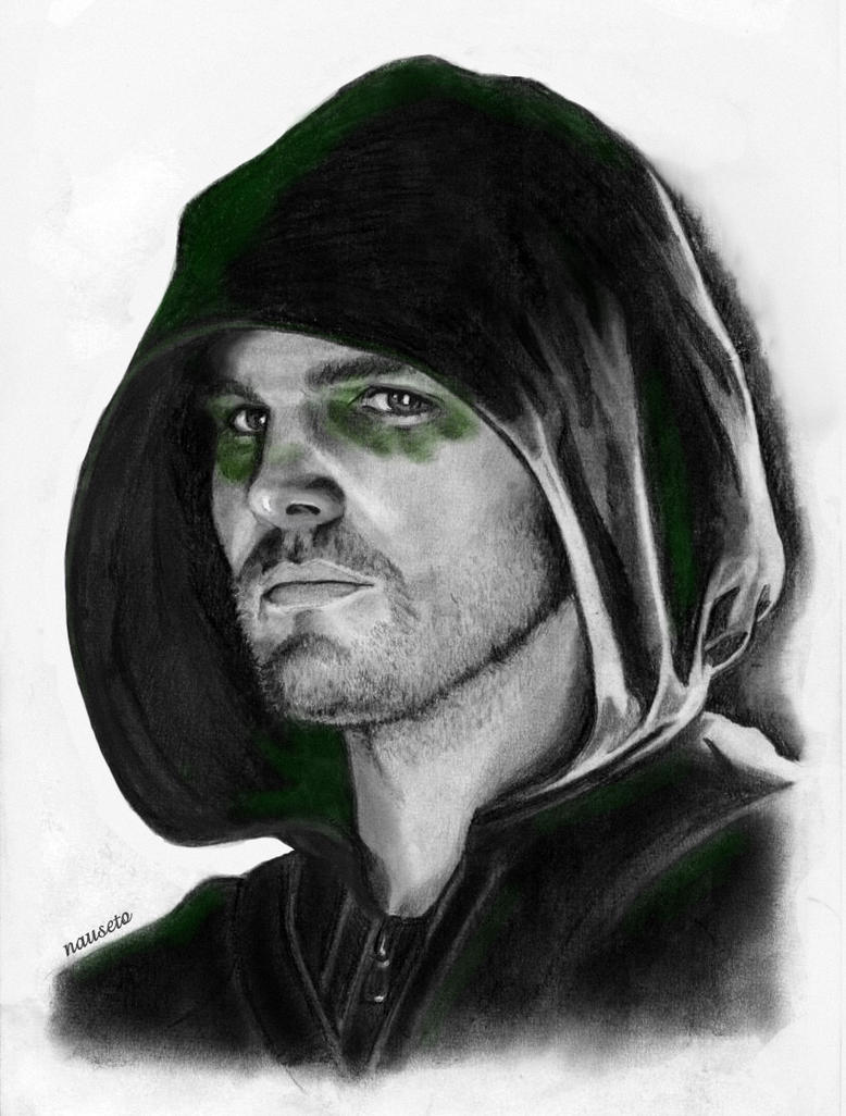 Green Arrow Face Drawing