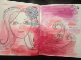 Art, doodle love- Scribble