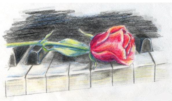Piano Rose by Aiya-Evenstar
