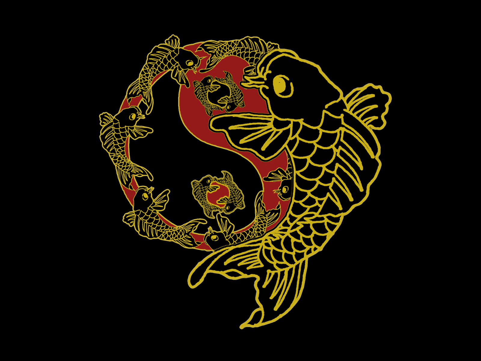 Koi N Yang Black Yin By Smoothraven7 On Deviantart