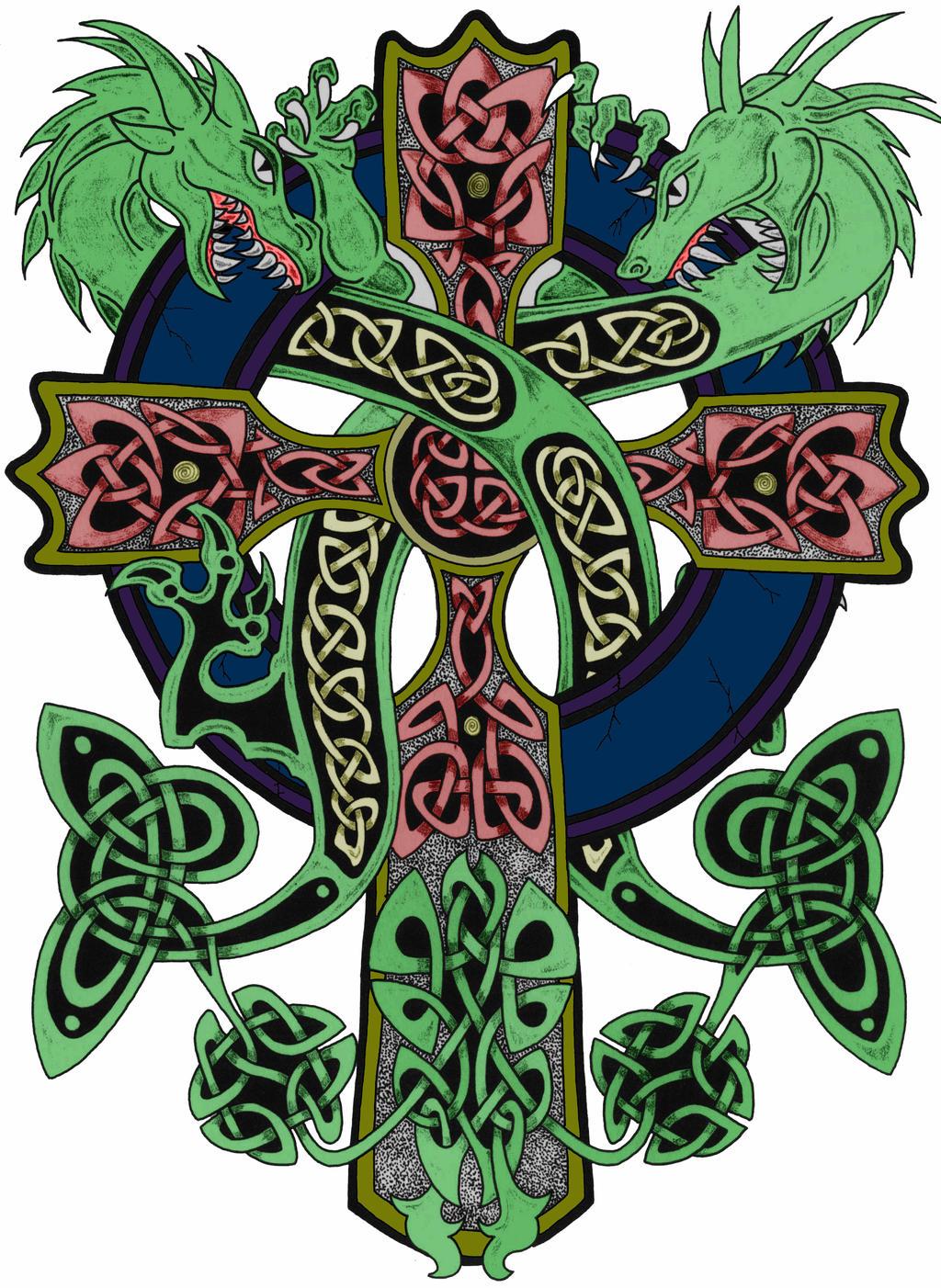 celtic cross color by smoothraven7 on deviantart. Black Bedroom Furniture Sets. Home Design Ideas