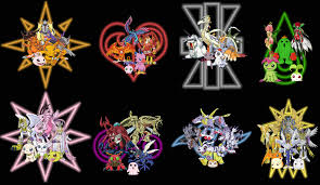 Crests and digimon by offbeattornado