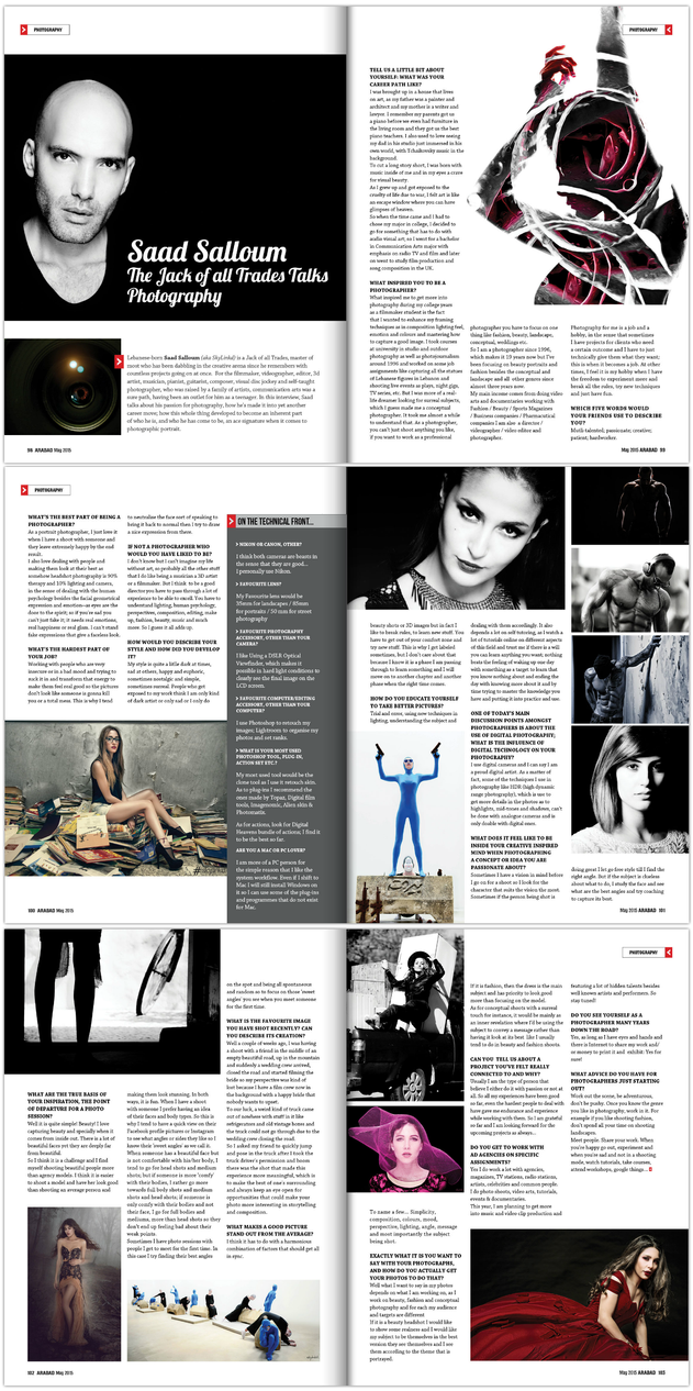 Saad Salloum Interview with Arab Ad Magazine by sKyLinKd