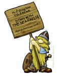 Viking Protestor