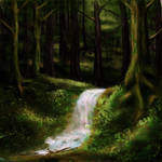 Wooded Creek Speedpaint