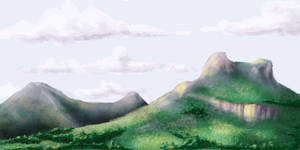 Mountain Landscape Speedpaint