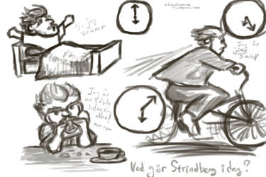 Cartoon Strindberg Time Exercises 1