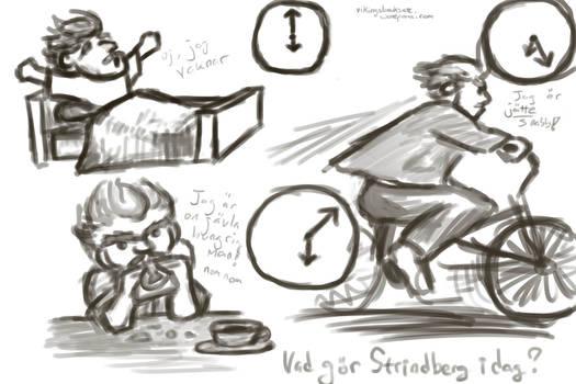 Cartoon Strindberg Time Exercises 1