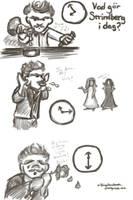 Cartoon Strindberg Time Exercises 2 by Callego