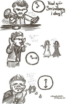 Cartoon Strindberg Time Exercises 2