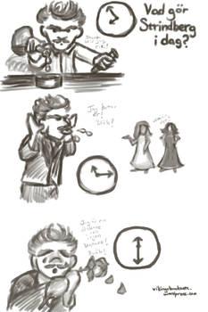 Cartoon Strindberg Time Exercises 2