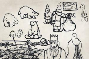 Polar Bear Brainstorm Sketches by Callego