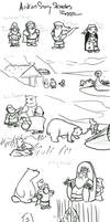 Audun story sketches by Callego