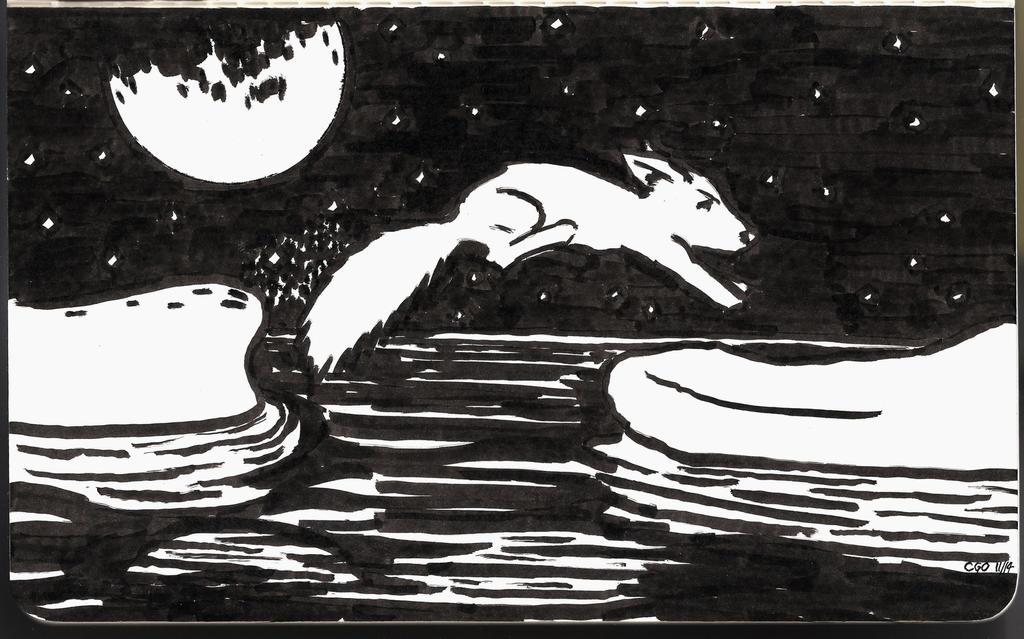 Arctic Fox (Never Alone fanart) by Callego
