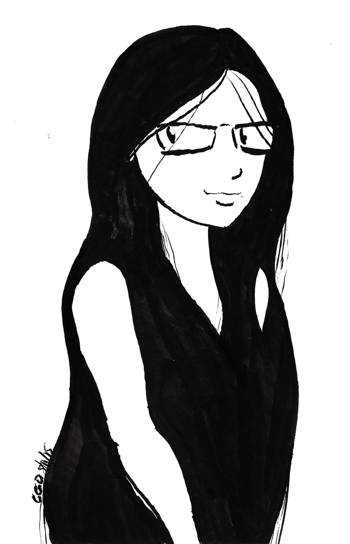Dark Haired Girl by Callego