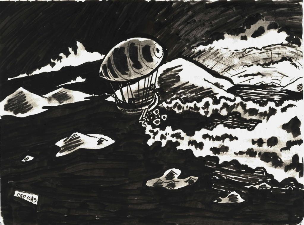 Steampunk Airship Sketch by Callego
