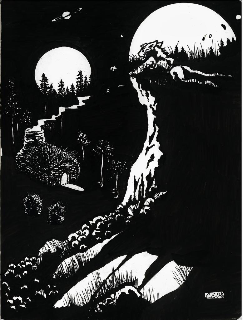 Goblin moons by Callego