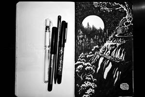 Inktober 10 15 16 Forest Home by Callego