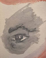 Watercolor Practice: Gray Eye by Callego