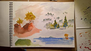 Watercolor Practice: Landscape speedpaints by Callego